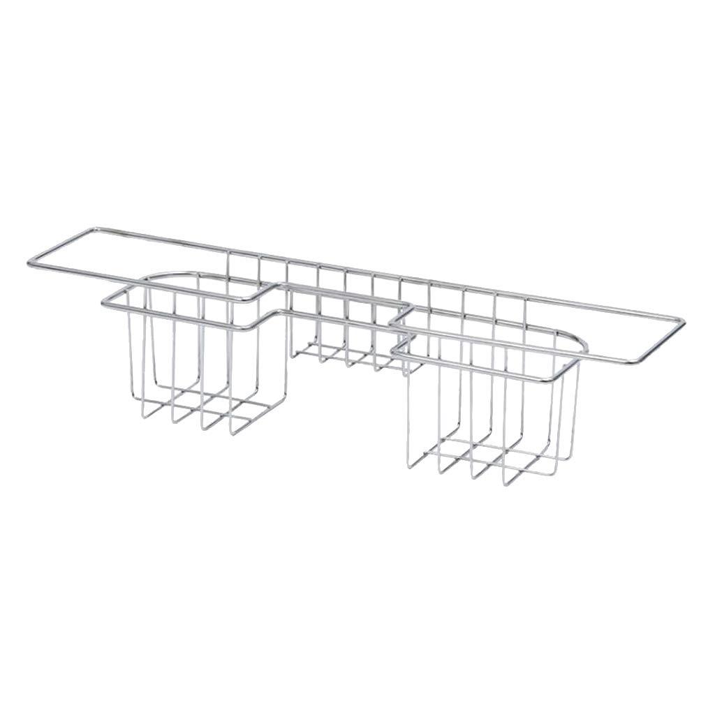 B Blesiya Stainless Steel Kitchen Sink Caddy, Sponge Holder for Kitchen Accessories