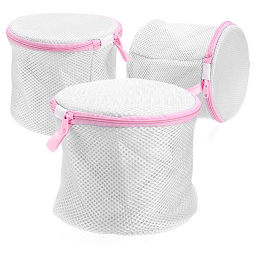 Sumnacon® 3 Packs Zippered Mesh Bra Wash Bags - Bra and Underwear Laundry Bag for Delicates Intimates Lingerie, Hosiery, Tights, Hose, Scarves, slips, Hair Scrunchies and even Socks Bra Washing Bag