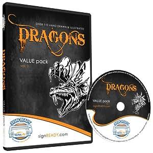 Amazon Com Dragons Clipart Vinyl Cutter Plotter Clip Art
