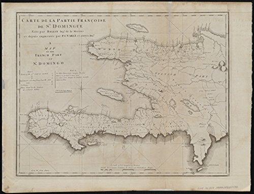 Historic Map | 1800 Carte de la partie Francoise de St. Domingue = A map of the French part of St. Domingo | Antique Vintage Reproduction by historic pictoric