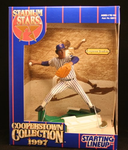 FERGUSON JENKINS / CHICAGO CUBS 1997 COOPERSTOWN COLLECTION MLB Stadium Stars Starting Lineup Deluxe 6 Inch Figure with Wrigley Field Display Base ()