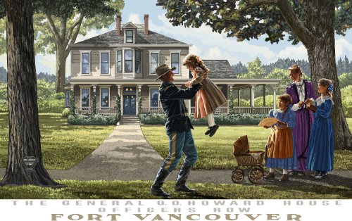 Northwest Art Mall Howard House Fort Vancouver Unframed Poster Print by Paul A. Lanquist, 11-Inch by - Vancouver Malls