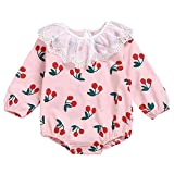 Baby Clothes Set Newborn Infant Baby Girl Romper Long Sleeve Bonpoint Print Clothes Pink