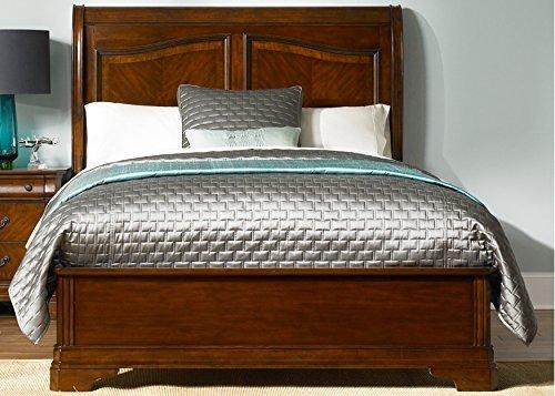 Liberty Furniture 722-BR-QSL Alexandria Sleigh Bed, Queen, Autumn Brown