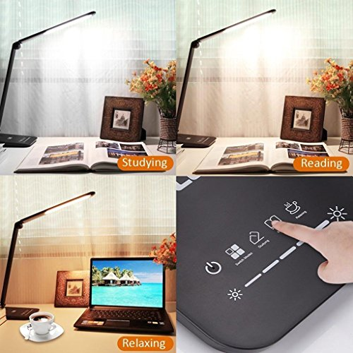 8W Touch Sensor Light Folding Desk 60 LED Reading Book Lamp with Power Adapter (Bomb Lava Lamp)