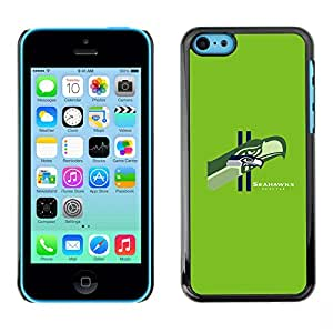 Design for Girls Plastic Cover Case FOR iPhone 5Cs Seattle Seahawk Team OBBA