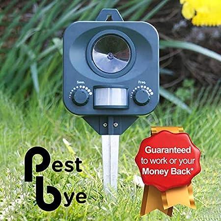 PestBye PB0032X2 - Set de 2 repelentes ahuyentadores para gatos a pilas