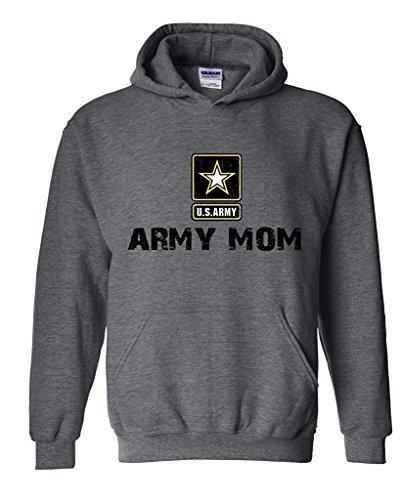 Artix U.S. Army Star Army Mom Army Strong Apparel Unisex Hoodie Sweatshirt Medium Dark Heather