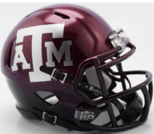 Riddell Texas A&M Aggies 2018 Two Tone NCAA Revolution SPEED Mini Helmet