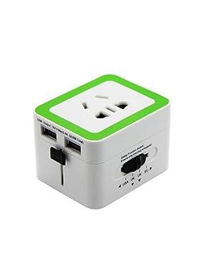 Enchufe de conversión Enchufe Cargador USB Dual Viaje en el ...