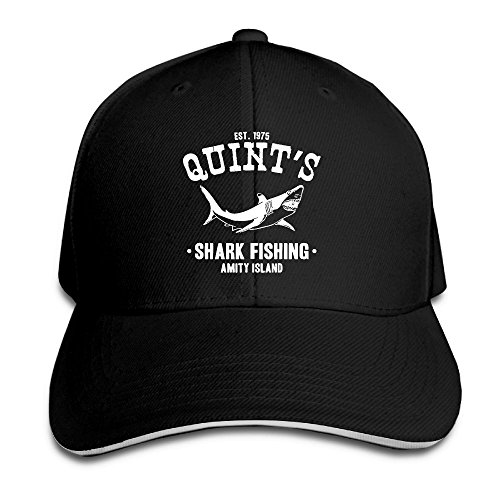 Quint's Shark Fishing Funny Print Outdoor Sandwich Adult Cap for $<!--$11.46-->