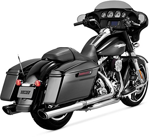 Vance & Hines 16763 Twin Slash 4 Rounds Chrome Slip On Mufflers...