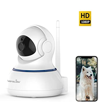 Wansview Wireless 1080P Security Camera, WiFi Home Surveillance IP Camera for Baby/Elder/Pet/Nanny Monitor, Pan/Tilt, Two-Way Audio & Night Vision Q3-S