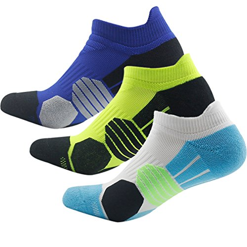 Cushion Socks Men, NIcool Elite Low Cut Tab Athletic Running Sports Socks, 2 - Cut Socks Elite Low
