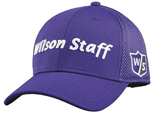 2015 Wilson Staff Mesh Golf Hat Adjustable Structured Baseball Cap- Purple