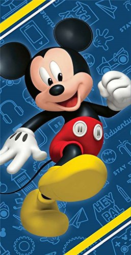 Disney Mickey Mouse Clubhouse Road Racers Fiber Reactive Beach Towel - Hey (Disney Sun Pals)