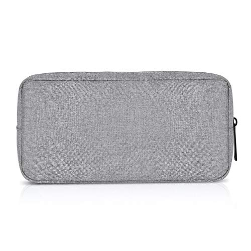 (ERCRYSTO Universal Electronics/Accessories Soft Carrying Case Bag, Durable & Light-Weight,Suitable for Out-Going, Business, Travel and Cosmetics Kit (Big-Gray))