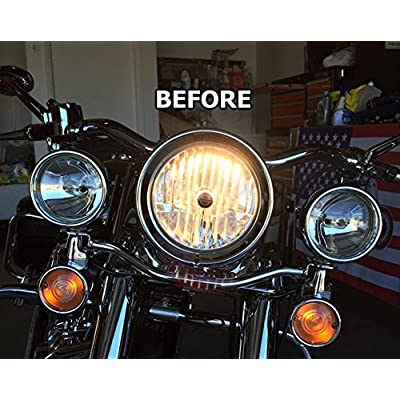 MOTORCYCLE LED H4 Harley, Road King, Electra Glide, Ultra Classic, Softail, Dyna, Heritage, Deluxe, Fat Boy, VERIFY SHIPS VIA AMAZON BY PARADISE NOT HARLEY JD: Automotive