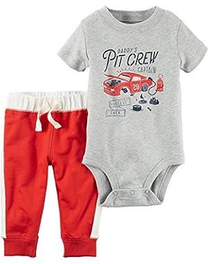 Carter's Baby Boys' 2-Piece Pitcrew Bodysuit and Pants Set