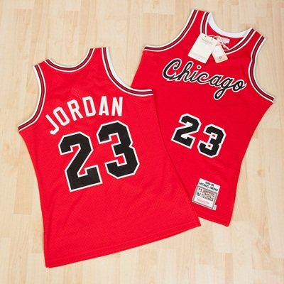 huge discount e2f1d 9fe62 Chicago Bulls Mitchell & Ness 84-85 Rookie Authentic Road ...