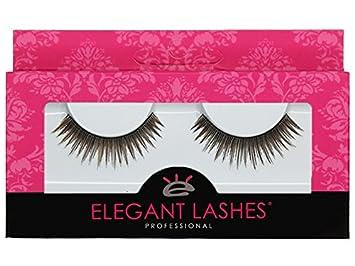 411e57acbce Image Unavailable. Image not available for. Colour: Elegant Lashes #046  Brown False Eyelashes ...