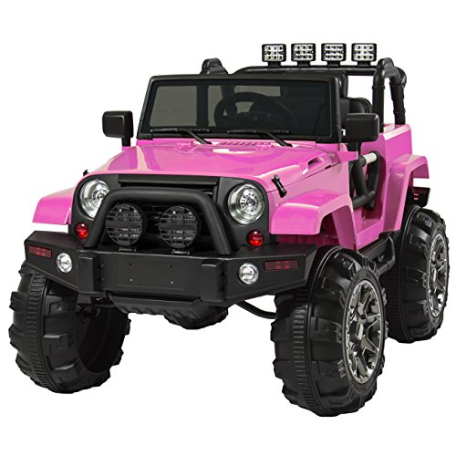 Best Choice Products 12V Ride On Car Truck W/ Remote Control, 3 Speeds, Spring Suspension, LED Lights Pink