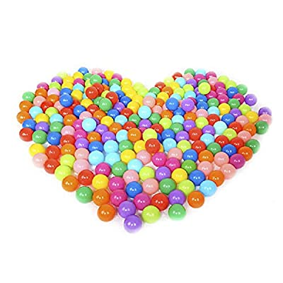 DAMEING 5.5cm 100PCS Pit Balls BPA Free Crush Proof Plastic Ball Use in Baby or Toddler Ball Pit, Play Tents, Tunnels for Indoor Outdoor: Toys & Games