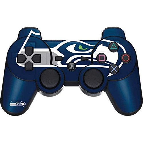 Skinit Seattle Seahawks Large Logo PS3 Dual Shock Wireless Controller Skin - Officially Licensed NFL Gaming Decal - Ultra Thin, Lightweight Vinyl Decal Protection