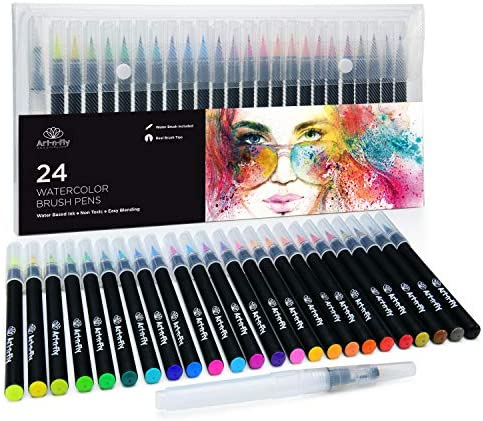 Watercolor Paint Brush Pens Calligraphy product image