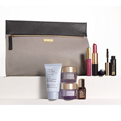 Estee Lauder 8 Pieces Skincare Makup Gift Set with a Sleek Cosmetics Bag Nordstrom Exclusive