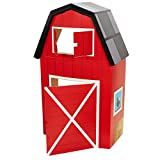 BirthdayExpress Red Barn Animal Farm Room Decorations - Cardboard Stand in Playhouse Fort