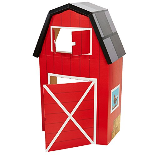 BirthdayExpress Red Barn Animal Farm Room Decorations - Cardboard Stand in Playhouse Fort for $<!--$39.36-->