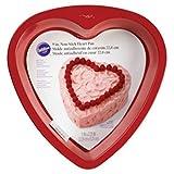 Wilton 2105-5467 Non-Stick Heart Cake Pan, 9-Inch, Red