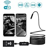 Wireless Endoscope Borescope, WIFI 2.0 Megapixels HD Inspection Camera, IP68 Waterproof Snake Camera for Android, iPhone, Samsung, Tablet, PC by AOSTAR (11.5FT Semi-rigid)
