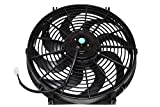 "A-Team Performance 110011 Electrical Radiator Cooling Fan 14"" Heavy Duty 12V Wide Curved 8 Blades 2400 CFM Reversible Push or Pull with Mounting Kit"