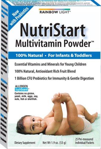 Rainbow Light Nutristart multivitamines alimentaires sachets de poudre Supplément pour les enfants de 6 mois à 4 ans, par 25