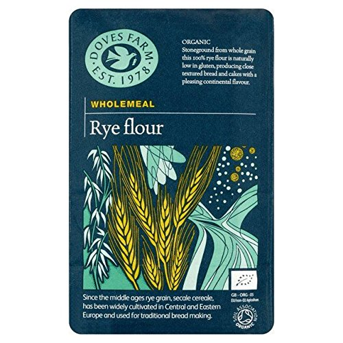 Doves Farm Wholemeal Rye Flour - 1kg (2.2lbs)