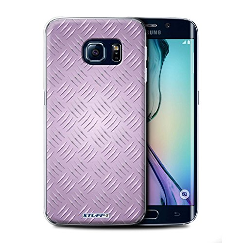Coque de Stuff4 / Coque pour Samsung Galaxy S6 Edge / Rose Design / Motif en Métal en Relief Collection