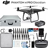 DJI Phantom 4 Pro Obsidian Quadcopter Drone Travelers Bundle