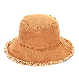 boderier Sun Hats for Women Summer Casual Wide Brim Cotton Bucket Hat Beach Vacation Travel Accessories