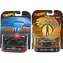 Action Car Set Aston Martin Casino Royale & Knight Rider KITT Retro Entertainment Hot Wheels Movie & TV Car Replica 2014