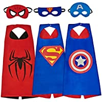 Mijoyee Superhero Dress Up Costumes andMask set of 3...
