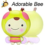 Jinjin 11cm Adorable Bee Toy, Cream Scented Squishies Very Slow Rising Kids Toys Doll Gift Fun Collection Stress Relief Toy (AS Show)