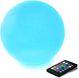 CHAKEV LED Floating Pool Light Ball, 6-inch Waterproof Nursery Night Ball with Remote, 16 RGB Color Changing & Dimming Rechargeable Sphere Vibrant Light Ball, Ideal for Kids or Home Decor