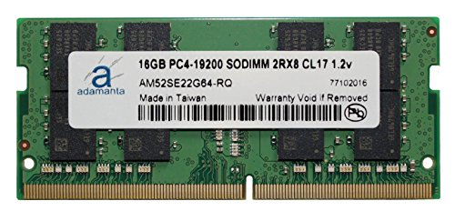 Adamanta 16GB (1x16GB) Laptop Memory Upgrade for Lenovo Thinkpad P71 20HK0018US 20HK With Intel i7 Processor DDR4 2400Mhz PC4-19200 SODIMM 2Rx8 CL17 1.2v Notebook - Dram Memory Intel
