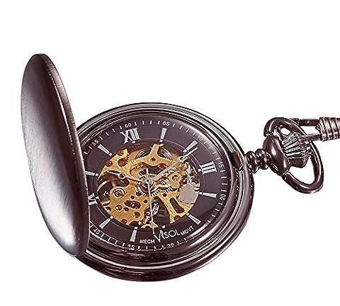 Personalized Visol Mechanical Pocket Watch with Free Engraving (Mechanical Pocket Watch Engraved)