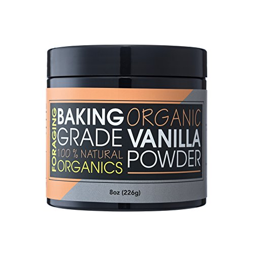 Organic Vanilla Bean - Foraging Organic Vanilla Powder White Baking Culinary Grade Vanilla Bean Extract Substitute For Coffee 100% All Natural