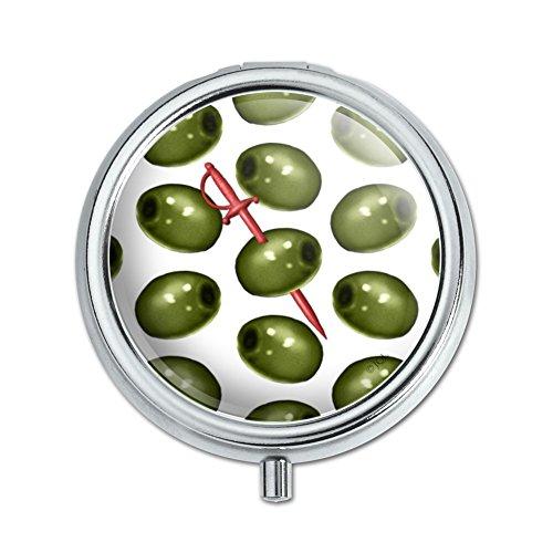Martini Green Olive Pattern Pill Case Trinket Gift Box