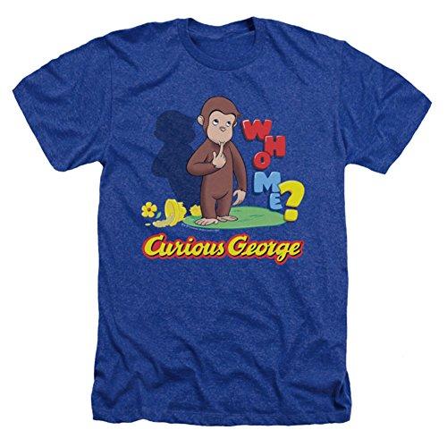 Curious George Who Me Mens Heather Shirt