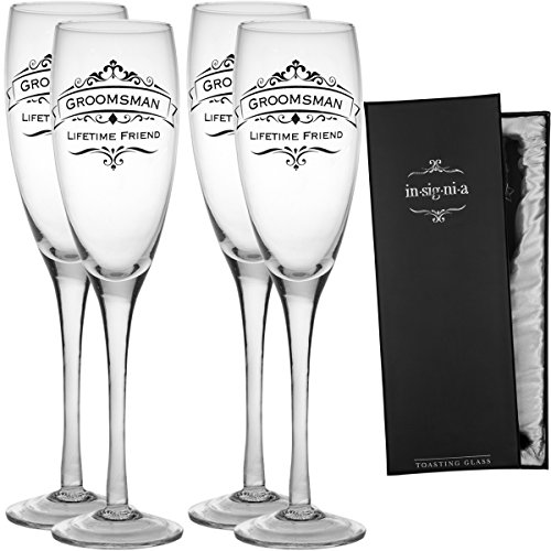 Enesco 4 Wedding Champagne Bridesmaids Groomsmen